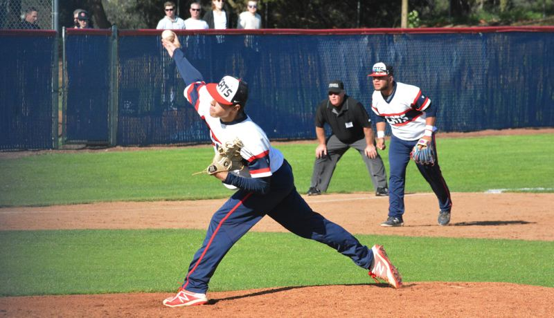 TIMES PHOTO: MATT SINGLEDECKER - Westview senior Jacob Cox was great in the 6A semifinals against West Salem, throwing a complete game four-hitter.