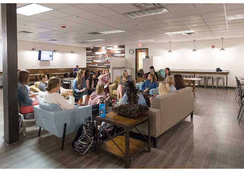 STAFF PHOTO: CHRISTOPHER OERTELL - The Falcon Room on the new campus is a place for students to relax, do homework or have a study session.