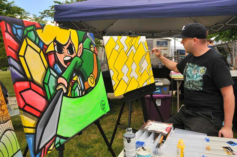 SPOKESMAN FILE PHOTOS - The Wilsonville Festival of Arts will include live art demonstrations.
