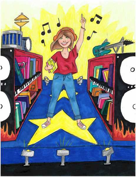 COURTESY: WCCLS - Jasmine McCleskey's submission to the WCCLS summer reading art contest placed third out of 56 entries.