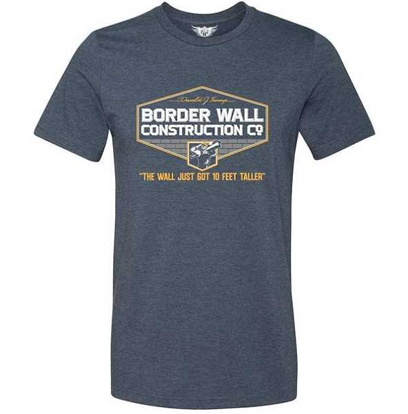 Barnes' shirt promotes President Donald Trump's border wall, which school officials said made students and teachers uncomfortable.