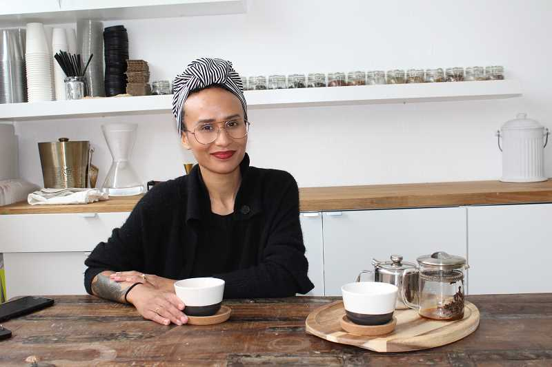 CONNECTION PHOTO: COREY BUCHANAN - Briana Thornton recently opened Aesthete Tea in the Multnomah Village French Quarter.