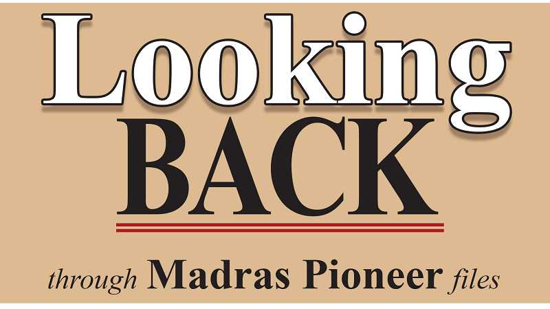 PIONEER LOGO - The Madras Pioneer looks back through files from the last 100 years of publication.