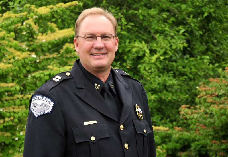 REVIEW PHOTO: VERN UYETAKE - LOPD Capt. Dale Jorgensen says he's a strong supporter of the department's community policing approach and several proactive initiatives undertaken by Chief Don Johnson. He plans to continue in the same direction when he becomes chief on July 1.