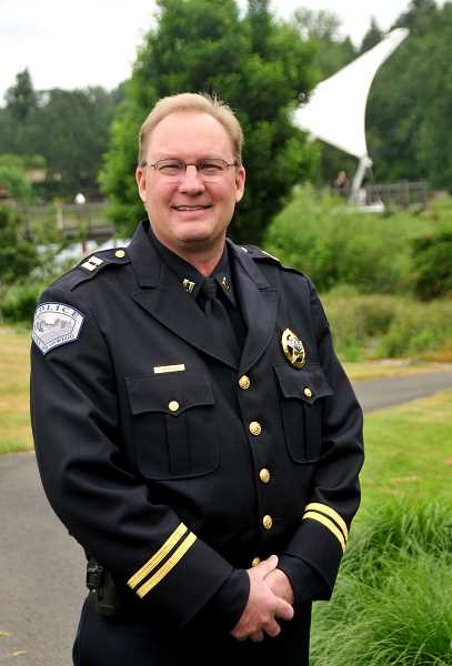 "REVIEW PHOTO: VERN UYETAKE - ""If leaders of organizations don't talk about things, then those things don't get talked about at all,"" says incoming LOPD Chief Dale Jorgensen. ""You've got to keep having the conversation — it can't just happen once a year."""