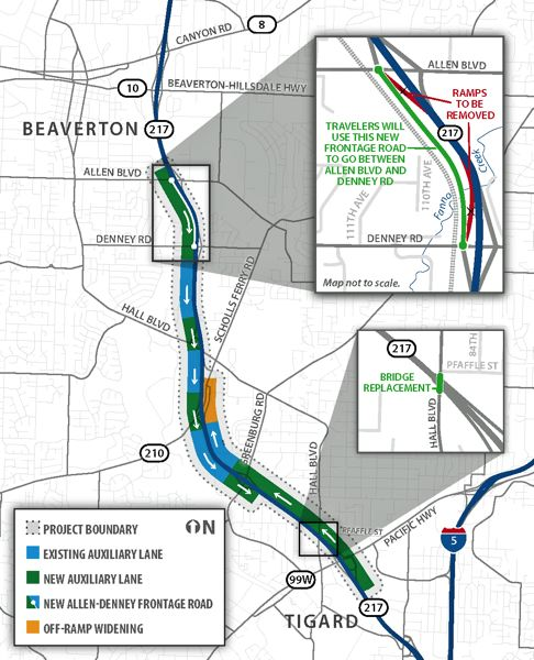 Highway 217 changes