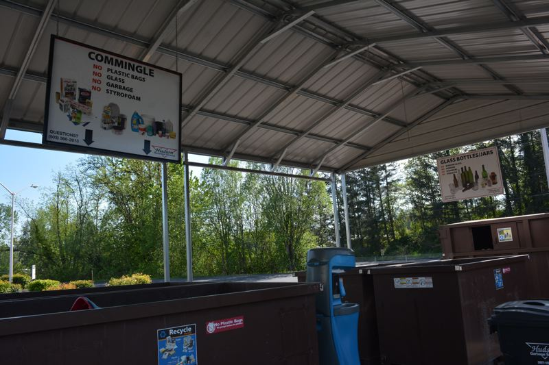 SPOTLIGHT PHOTO: COURTNEY VAUGHN - Recycling bins at the Columbia County Transfer Station keep garbage away from recyclable materials. County officials say so many items of garbage end up in recycling bins, that it drives up costs in the long run.