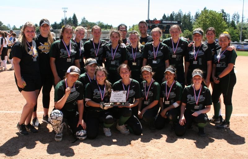 PAMPLIN MEDIA: JIM BESEDA - Putnam took home the second-place trophy after dropping a 7-0 decision to top-ranked Pendleton in Saturday's OSAA 5A softball championship final in Corvallis.