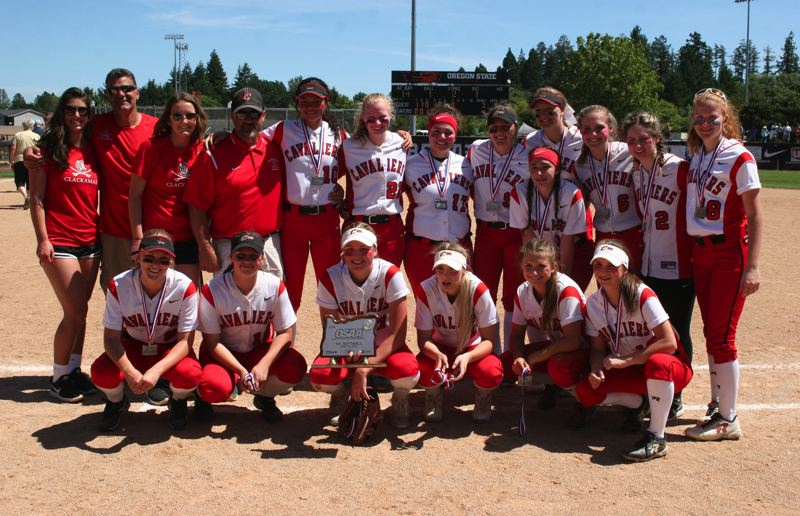 PAMPLIN MEDIA: JIM BESEDA - The Clackamas Cavaliers fell 4-3 to undefeated and top-ranked Tualatin in Saturday's OSAA Class 6A softball championship final at the OSU Softball Complex in Corvalls.