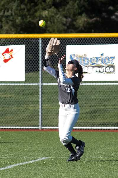 SUBMITTED PHOTO: GREG ARTMAN - Junior Carly Atwood earned second team honors in the NWOC for her efforts in centerfield.
