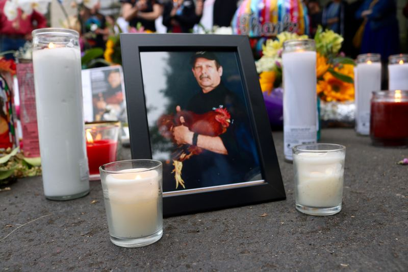 VALLEY TIMES PHOTO: ZANE SPARLING - Chef Daniel Brophy was honored by hundreds during a candlelight vigil at the Oregon Culinary Institute on Monday, June 4.
