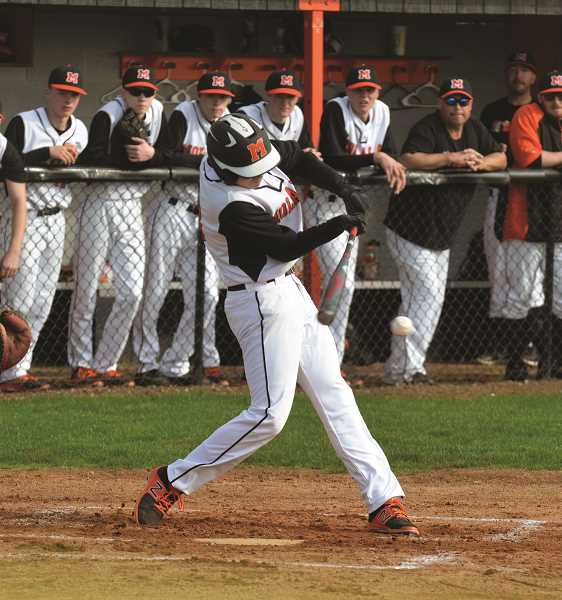 PIONEER PHOTO: TANNER RUSS - Jeff Larsen earned honorable mention for his efforts in Molalla's infield this past season.
