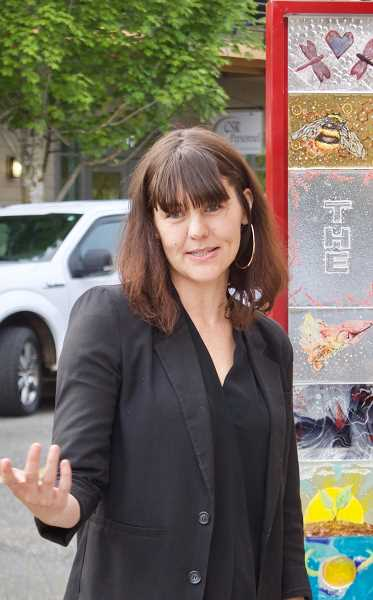 OUTLOOK PHOTO: CHRISTOPHER KEIZUR - Portland-based artist Jen Fuller coordinated the art, which features ideas from the MHCC students who helped put it together.