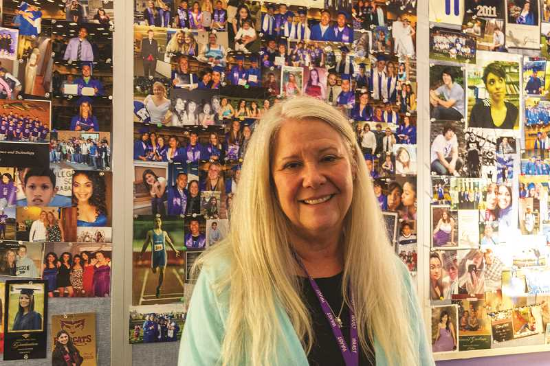 PATRICK EVANS - Geri Federico, longtime WAAST principle, is retiring at the end of the semester. Federico's office is covered wall to wall with pictures of former students.