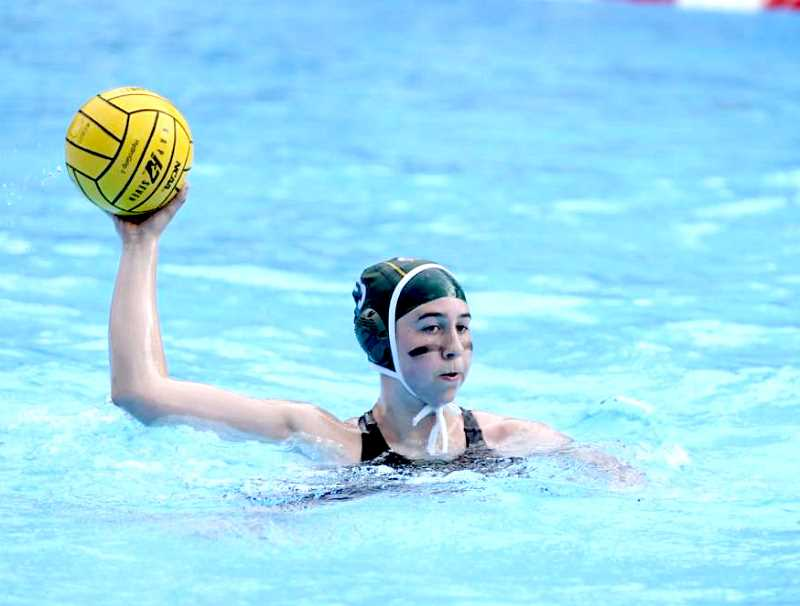 SUBMITTED PHOTO - Sophie Gemelas, of Madras plays in the water polo nationals for the Oregon Ducks