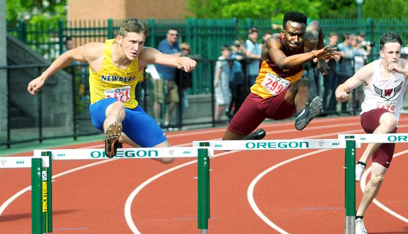GRAPHIC FILE PHOTO - Cole Alteneder was named Most Outstanding Senior Student-athlete last week at Newberg High School All Sports Awards Banquet. The University of Idaho recruit is the school record holder in the 110 hurdles and 4x100 relay and was named all-league 17 different times in track and soccer.