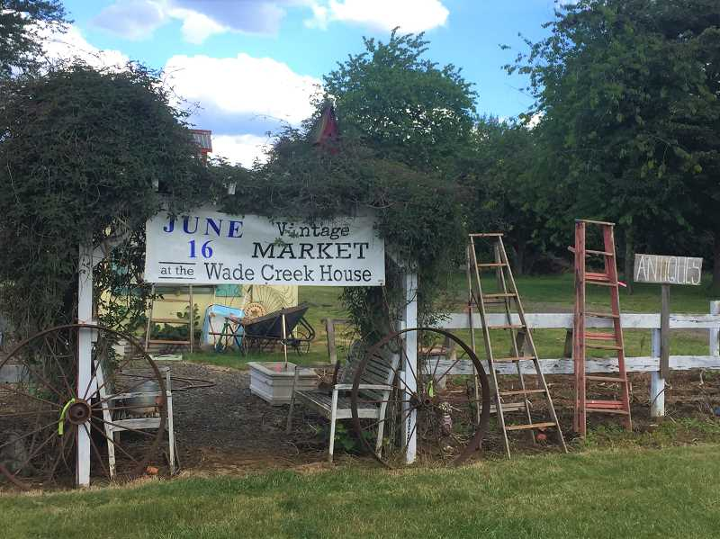 ESTACADA NEWS PHOTO: EMILY LINDSTRAND - Wade Creek House Antiques will be the site of two vintage outdoor markets this summer.