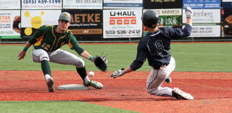 TIDINGS FILE PHOTO - West Linn junior shortstop Jonathan Kelly was one of four Lions named to the all-Three Rivers League first team after the 2018 season.