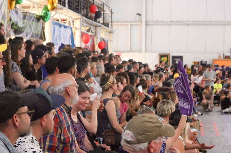 TRIBUNE PHOTO: ZANE SPARLING - Fans watch the Season 13 championships on Saturday, June 2 in Portland.