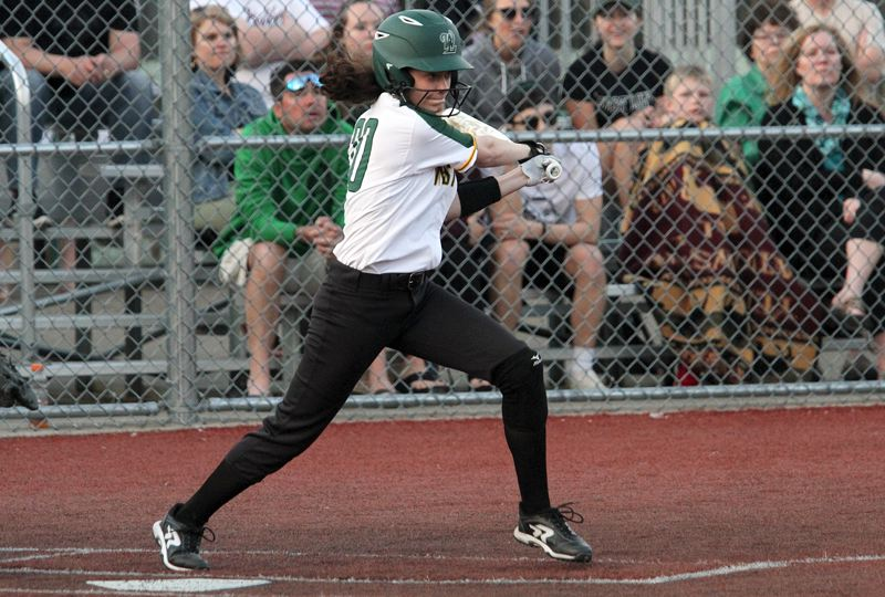 TIDINGS FILE PHOTO - West Linn senior Brooke McKelvey was named Three Rivers League Player of the Year after leading the Lions to a third-place finish with her outfield play and hitting this spring.