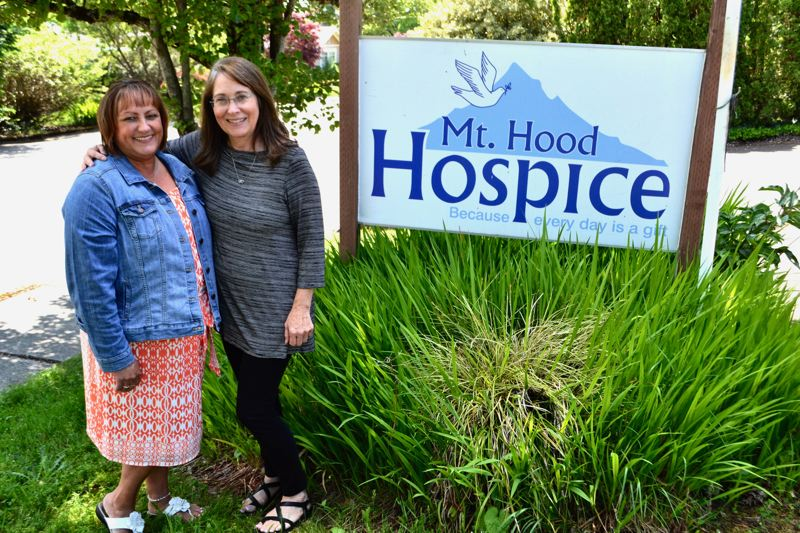 POST PHOTO: BRITTANY ALLEN - Lindy Blaesing, 30-year executive director of Mt. Hood Hospice, retired her position on June 1, leaving the company in the caring hands of Rhonda Franke.