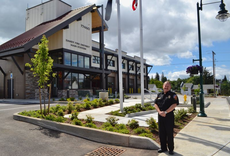 POST PHOTO: BRITTANY ALLEN - The new fire station at 17460 Bruns Ave. has been a work in progress for four years.