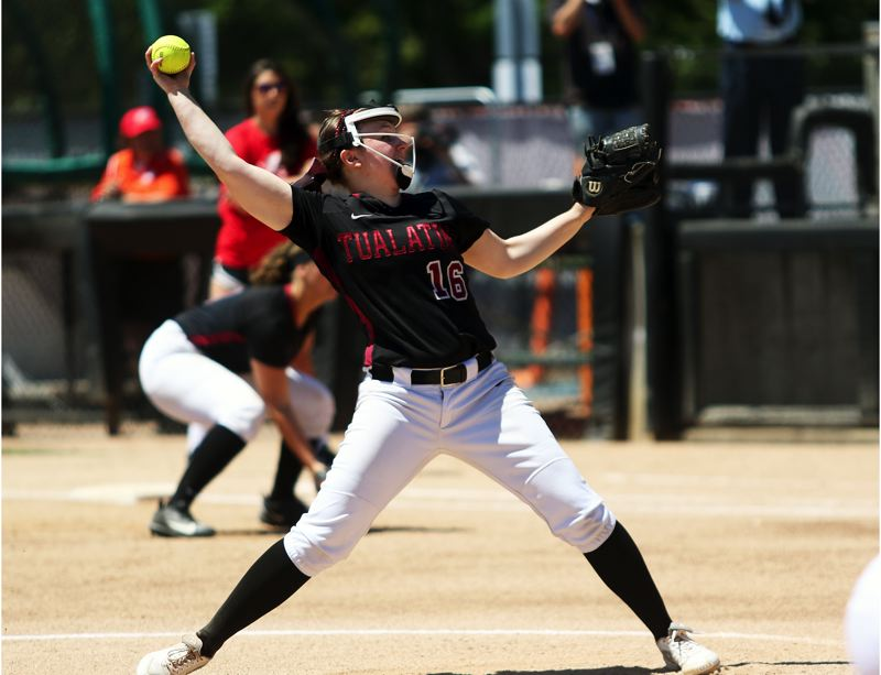 TIMES PHOTO: DAN BROOD - Not only did Megan Woodward help lead Tualatin to the softball state championship as a season, but she also played the lead in the school's version of 'Romeo and Juliet.'