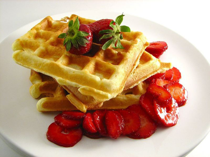 CONTRIBUTED PHOTO: WIKIMEDIA COMMONS - The Strawberry Waffle Breakfast fundraiser will include breakfast, goat poop bingo and a meet-and-greet with local political candidates.