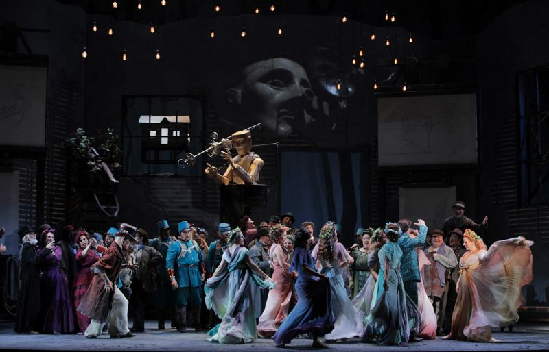 COURTESY: CORY WEAVER/PORTLAND OPERA - The opera 'Faust' is staging in Portland, and it's designed by artist John Frame.