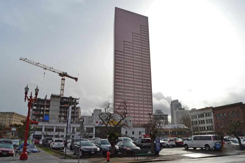 PORTLAND TRIBUNE FILE PHOTO - A tall building is proposed for this surface parking lot in the Old Town/Chinatown area.