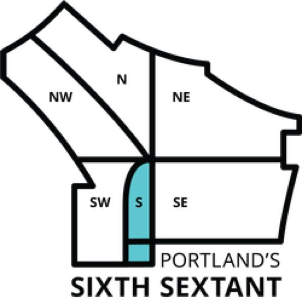 PORTLAND BUREAU OF TRANSPORTATION - A city map of the new South Portland quadrant designated by the City Council.