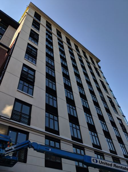PAMPLINMEDIA GROUP: JOSEPH GALLIVAN - The Storyline apartments at SW12th and Market St. are not open until July but prospective renters can take a virtual reality tour at the leasing office at 11th and Jefferson.