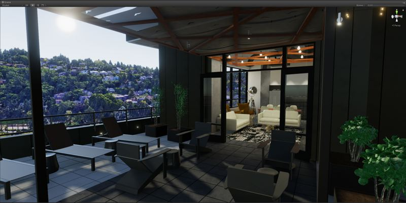 COURTESY: MORETENSON - Construction company Mortenson used images from Google to render the west hills view from the Storyline in this image of the upstairs communal space.