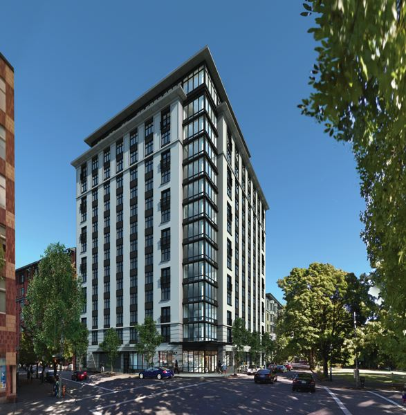 COURTESY: SERA ARCHITECTS  - A rendering of the Storyline apartments at 12th and Market Street showing how it is supposed to look when complete.