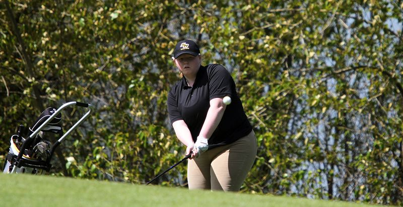 SPOTLIGHT FILE PHOTO - St. Helens senior Peyton Strade accomplished a lot in the 2018 spring season, first surviving the tough NWOC season to earn a spot at regionals, winning her way to the Class 5A state tournament and eventually finishing 25th there.