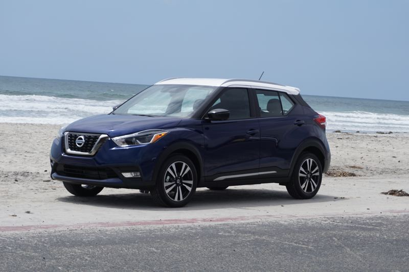 PORTLAND TRIBUNE: JEFF ZURSCHMEIDE - The 2018 Kicks is the later Nissan subcompact crossover. It is bargain-price and even the base S model comes well equipped.
