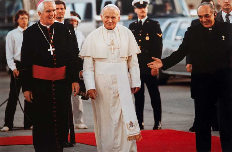 PHOTO COURTESY OF THE VINCENT FAMILY - A devout Catholic, Jim Vincent said the pinnacle of his journalism career was photographing and meeting Pope John Paul II while covering the pontiff's visit to Canada in 1984.