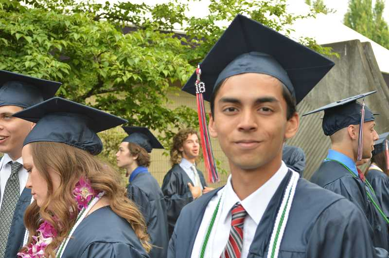 TIMES PHOTO: RAY PITZ - For graduating senior Chris Parra, making a video chronicling senior events and achievements was a major highlight of his high school career.