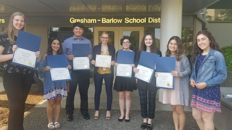 CONTRIBUTED PHOTO: CITY OF GRESHAM - Greshams Youth Advisory Council presented its year-end report during the City Council meeting Tuesday, June 5.