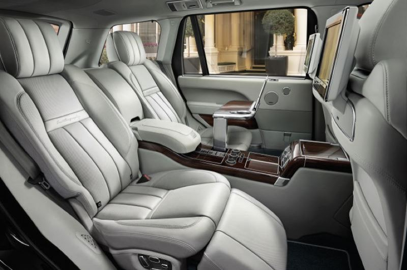 TATA MOTORS - Rear seat accomodations in the long wheelbase version of the Range Rover are world class, but not bad in the short wheelbase version, either.