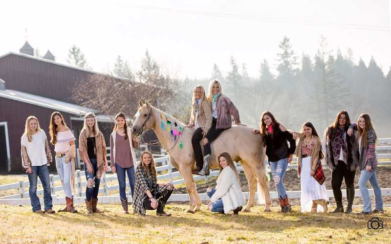 SUBMITTED PHOTO - The 2017-2018 Wilsonville equestrian team.