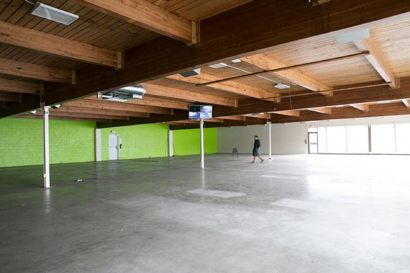 COURTESY MULTNOMAH COUNTY - The inside of the front of the empty grocery store near Southeast 61st Avenue and Foster Road.