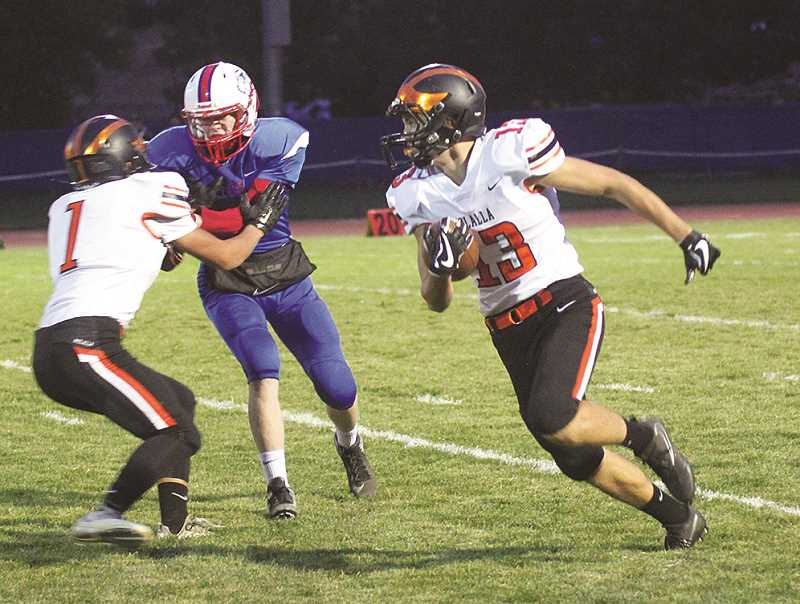 PIONEER FILE PHOTO: CONNER WILLIAMS - Molalla football team makes a move to the Cowapa League after Cascade High School reenters the 4A classification.