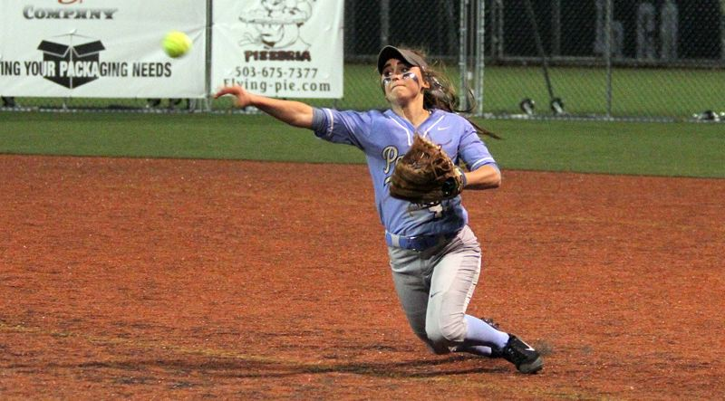 REVIEW FILE PHOTO - Lakeridge senior second baseman Sara Nyland won a place on the all-Three Rivers League first team after batting .352 this season.