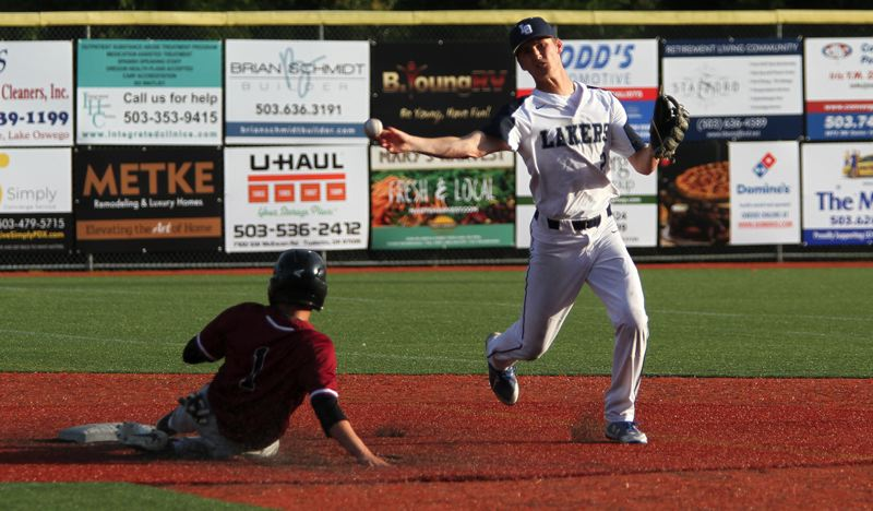 REVIEW FILE PHOTO - Lake Oswego senior Jake Dukart was named to the all-Three Rivers League first team as a pitcher and shortstop, and was also named TRL Player of the Year.