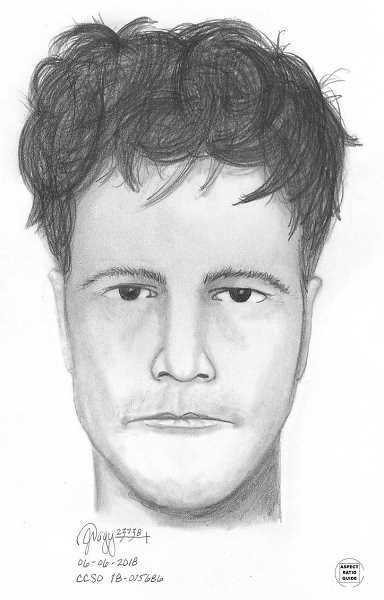 SUBMITTED PHOTO: CLACKAMAS COUNTY SHERIFF'S OFFICE - A sketch of the suspect who allegedly exposed himself to a woman Thursday, May 31.