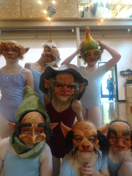 SUBMITTED PHOTO - Goblins show off their masks.