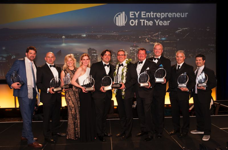 COURTESY: EY PORTLAND - Entrepreneur of the Year 2017 Pacific Northwest Award Winners. The Pacific Northwest final will be held in Seattle on June 15, 2018.