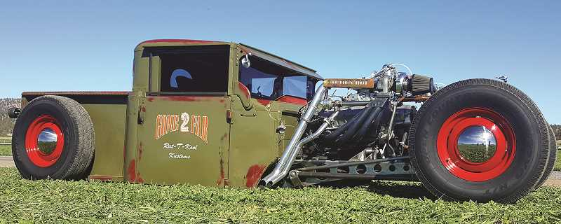 PHOTO COURTESY OF SEAN BARTER - Sean Barter, owner of this home-built rat rod vehicle, has organized an event to benefit the Prineville Band of Brothers.