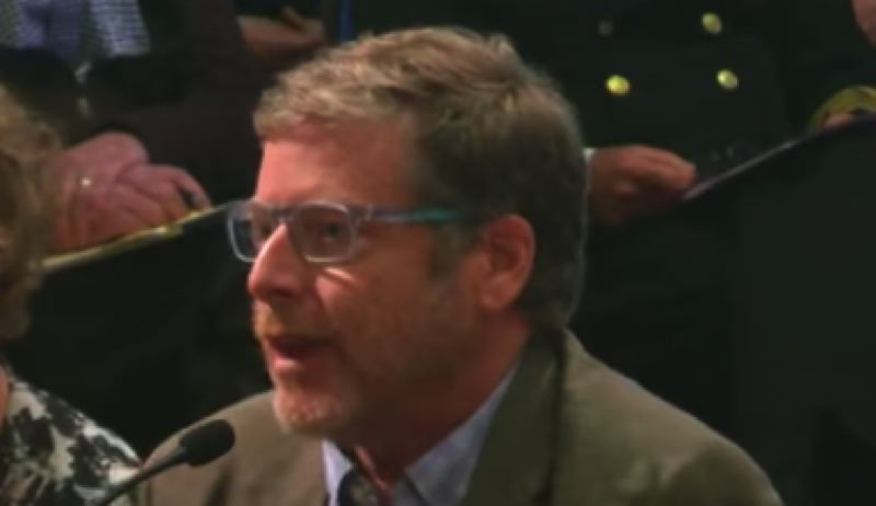 CITY OF PORTLAND - Marine geologist and earthquake expert Chris Goldfinger testified at the May 9 Portland City Council meeting. Having been featured prominently in a 2015 Pulitzer-winning New Yorker article about the subduction-zone quake risk, Goldfinger said the city's ppoposed resolution on seismic retrofits seems weak.